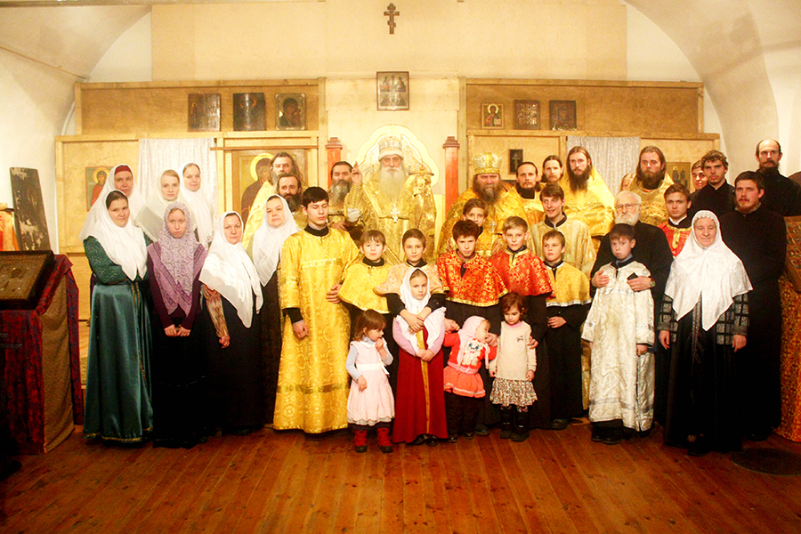 Старообрядцы в церкви.