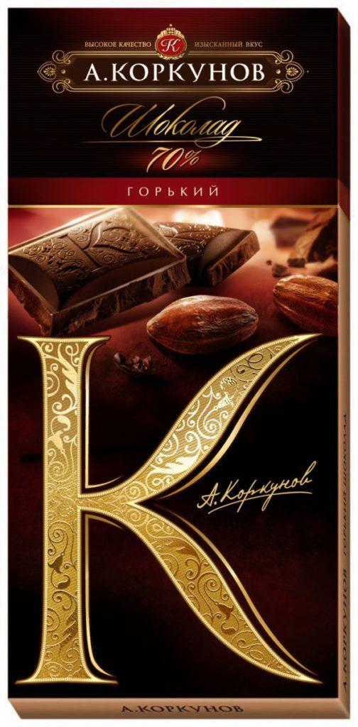 Горький шоколад.
