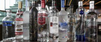 Водка премиум на спирте «Альфа».
